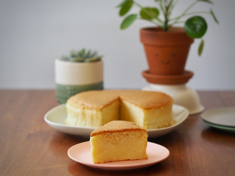 Japanese souffle cheesecake light airy cake delicious recipe cream cheese butter sponge egg