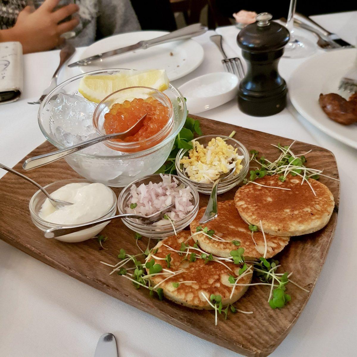 Ognisko Restaurant Classy Polish Dining South Kensington London Traditional Vodka Outdoor Alfresco Garden View Keta Caviar Blinis