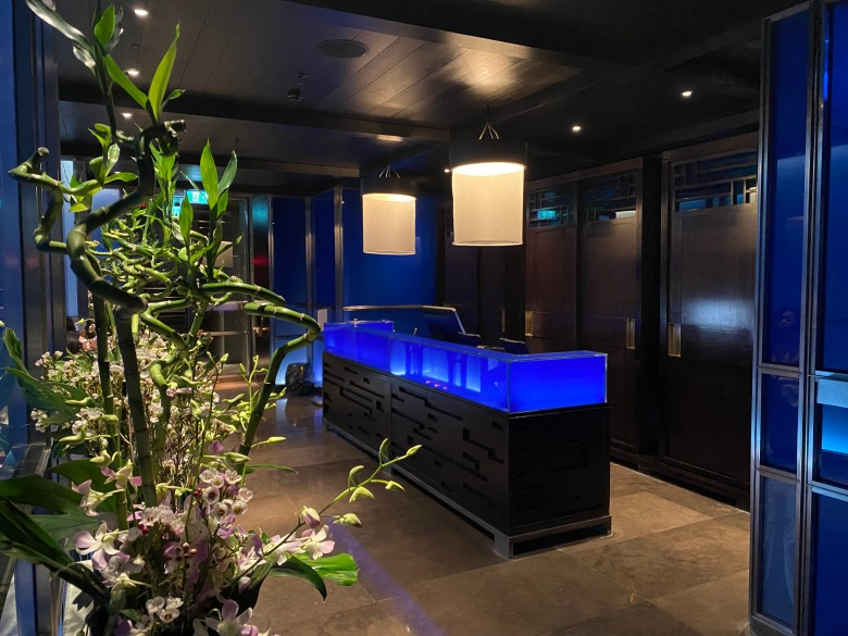 Hakkasan Hanway Place High End Luxury Chinese Cantonese London Funky Hip Trendy Restaurant Michelin Star Traditional Romantic Dining Fun Club Experience Peking duck Cocktail Bar Drinks Great Service Must Go Reception