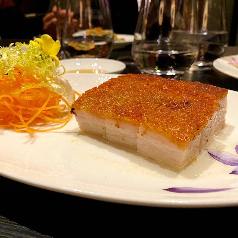 Imperial Treasure London Waterloo Place Chinese Restaurant Michelin High End St James Mayfair Cantonese Expensive Luxury Dining Iberico Roast Pork Crunchy Crackling