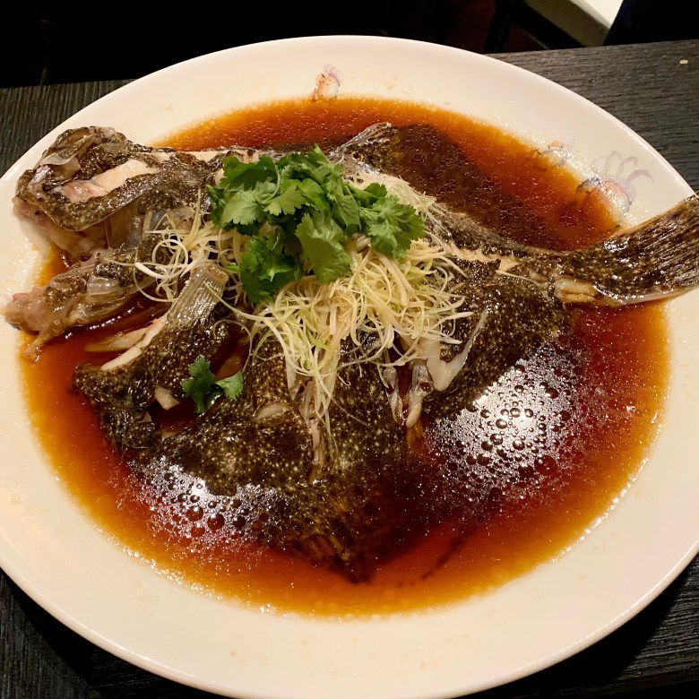 Imperial Treasure London Waterloo Place Chinese Restaurant Michelin High End St James Mayfair Cantonese Expensive Luxury Dining Steamed Turbot Soya Sauce