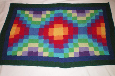 Marisa of Portland, OR knit this wonderful Høxbro quilt in Dale Baby Ull