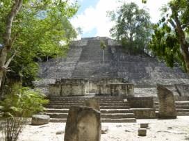 A large pyramid at Calakmul.