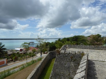 Looking out from the fort over the lagoon