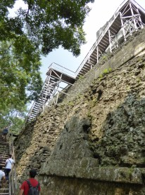 So many stairs to reach the top of the pyramid