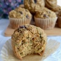 Zucchini Oat Bran Chocolate Chip Muffins
