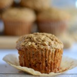 Banana Oat Bran muffins, made healthier with zero refined sugar and packed with oats and bran to keep you full and running through your morning. #twosugarbugs #healthymuffins #banana.