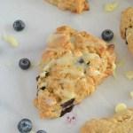 White chocolate blueberry scone