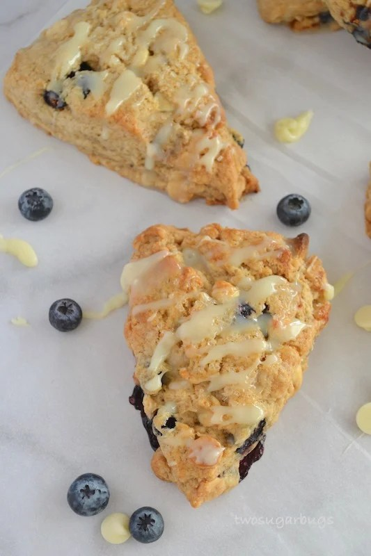 White Chocolate Blueberry Scones