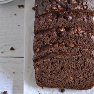 Healthier Chocolate Zucchini Bread