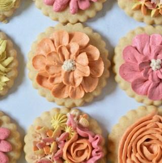decorated cinnamon sugar cookies