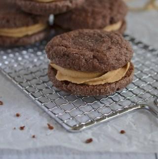 Chocolate Biscoff Sandwich Cookies