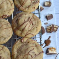 Peanut Butter Snickers Cookies {Santa Surprises}