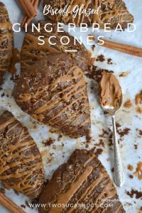 Pinterest graphic 2 for gingerbread scones