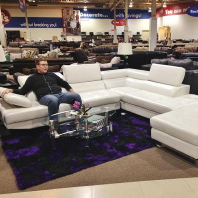 I took Neal to Omaha with me to go couch shopping for our new City Impact building.