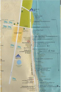 Tulum Beach Hotel Map