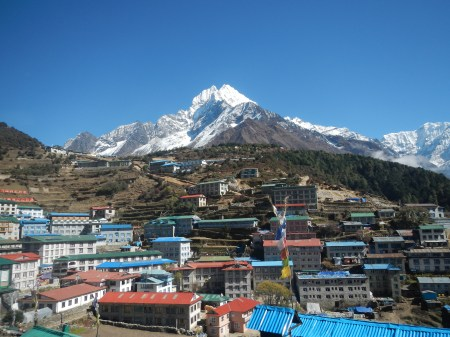 The town of Namche