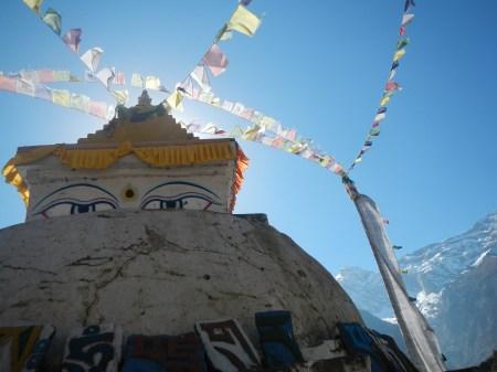 A stupa in Namche