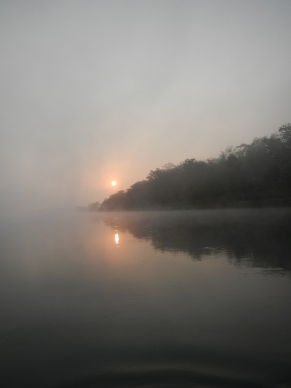 Crossing the river in the morning