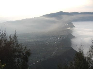 Cemoro Lawang on the lip of the crater