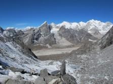 Looking towards the Khumbu Glacier and Lobuche from Kongma La