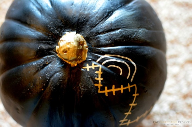 Today 39 S No Carve Decorated Pumpkin Is One Of The Mini Artificial Pumpkins I Used A Small White Hand Drawing Spider Web On It Using