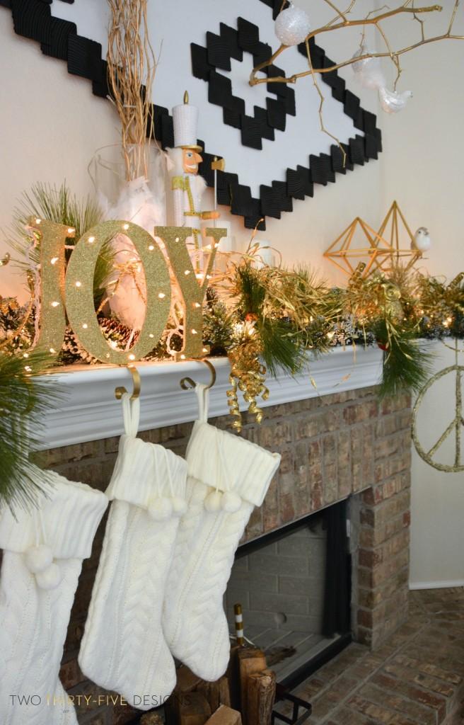 Christmas Holiday Mantel  Two ThirtyFive Designs