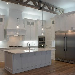 Wood Kitchen Counters Countertops Granite Simple White Home Tour
