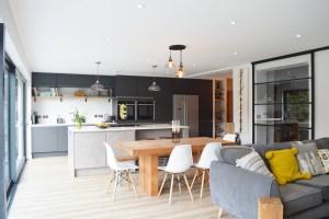 Modern Kitchen Installation in London   Dark Grey Matt and ...