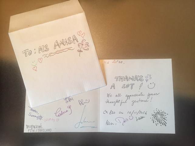 """The whole crew sign a card for me - so thoughtful of them!"""" - Random acts of kindness images- Spread kindness - Spark Hope Tag"""" - Two Traveling Texans"""