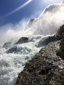 """You get right up by the Falls! - """"Cave of the Winds: Niagara Falls Closeup"""" - Two Traveling Texans"""