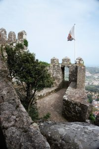 "Flags still fly proudly from the castle.- ""Why I Loved the Moorish Castle"" - Two Traveling Texans"