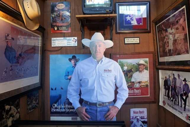 """Nolan Ryan memorabilia displayed in the Texas Cowboys Hall of Fame. - """"Fort Worth Stockyards: Learn About the Old West"""" - Two Traveling Texans"""