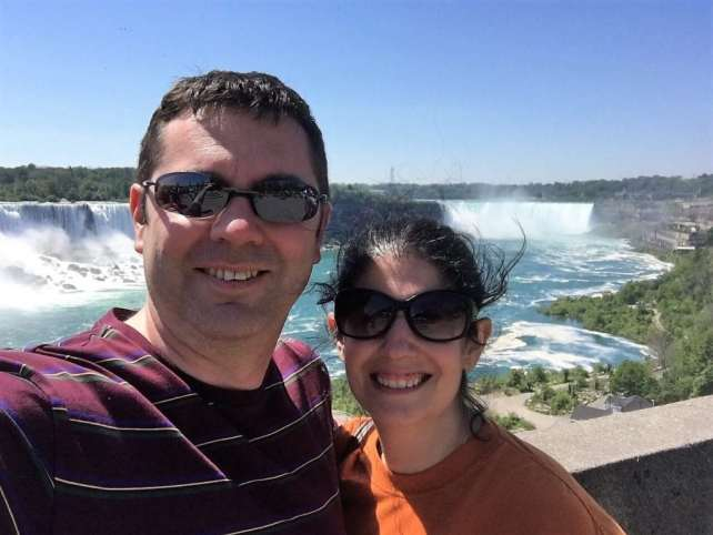 """Russell and Anisa in Niagara Falls for the minimoon. - """"Moving To England: How and Why I Did It!"""" - Two Traveling Texans"""