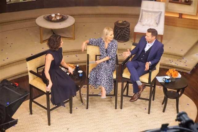 "Kelly and Ryan chat with Lana Parilla. - ""How to See TV Tapings in NYC With 1iota Tickets"" - Two Traveling Texans"
