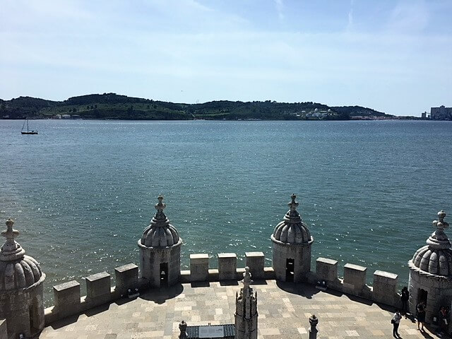 """View of the Tagus river from the top of Belem Tower. - """"The Best Things to Do in Belem (Lisbon)"""" - Two Traveling Texans"""