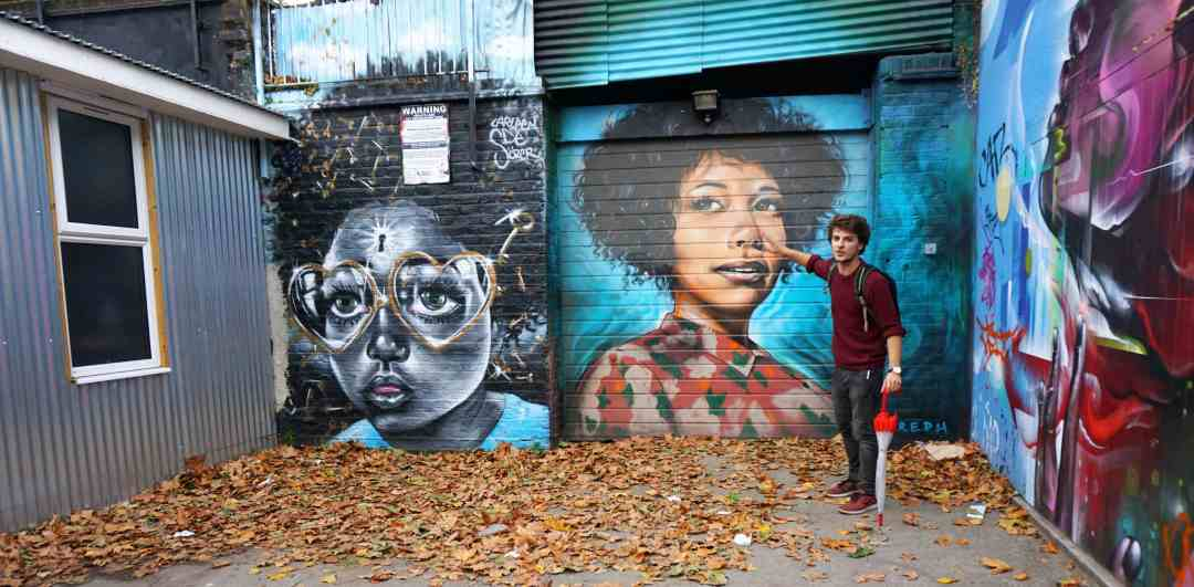 """The murals in the Star Yard were just amazing, this is just a sample. """"Free Shoreditch Street Art Tour"""" - Two Traveling Texans"""