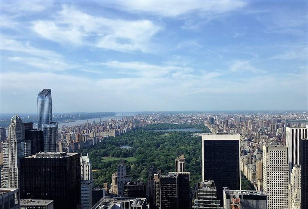 View of Central Park from Top of the Rock- Is the NY Pass Worth It? - Two Traveling Texans
