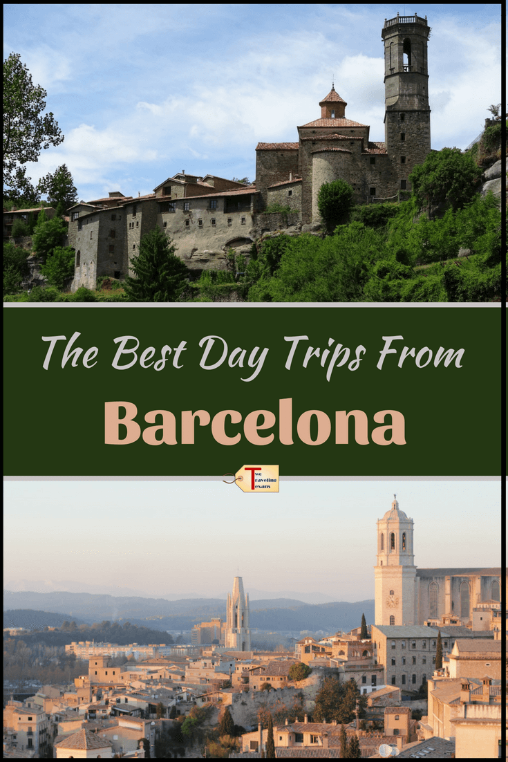 Check out this list of the best day trips from Barcelona.  Some of the Barcelona day trips are accessible by train. Whether you like beaches, museums, history, or hiking, you will find a day trip out of Barcelona that appeals to you. #barcelona #spain #catalonia #daytrips