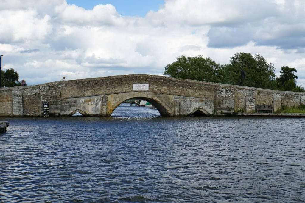 """The infamous Potter Heigham Bridge. - """"Hire a Boat on the Norfolk Broads"""" - Two Traveling Texans"""