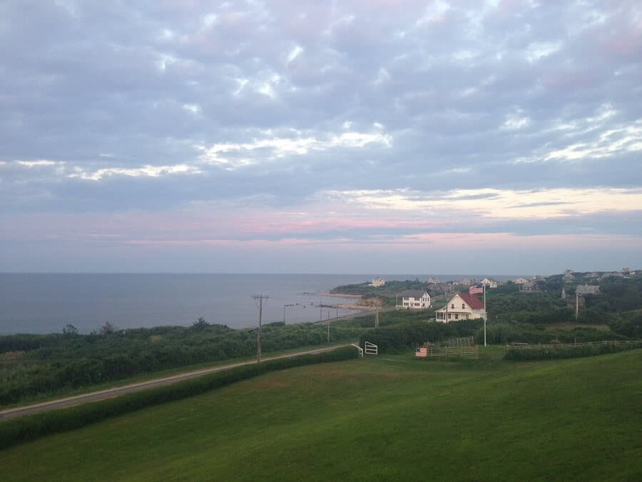 """Block Island sunset - """"Block Island Ferry and Travel Guide"""" - Two Traveling Texans"""