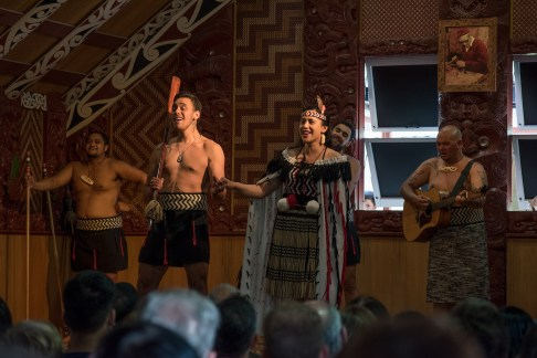 Singing a Love Song at the Maori Cultural Show