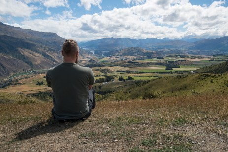 View over the Valley with Queenstown in the far distance
