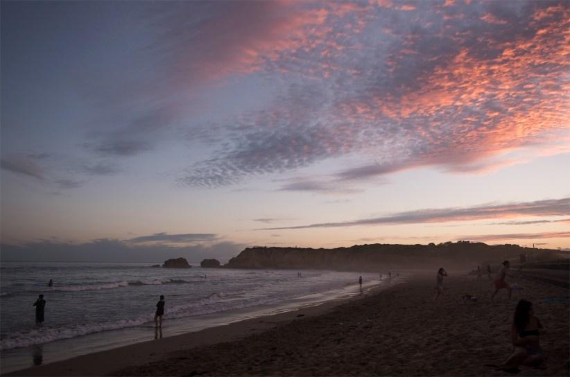 Sunset and swim in Torquay