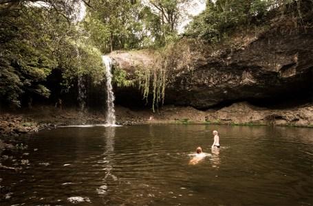 Swimming in the Killen Falls Pool