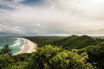 View over Tallows Beach and Arakwal National Park