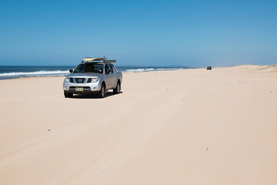 Driving on the beach!