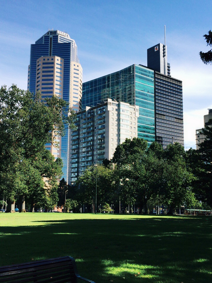 Melbourne has a lot of parks