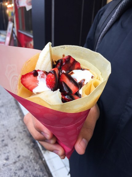 Japanes style crèpes. Strawberries in march? Yes. Strange.