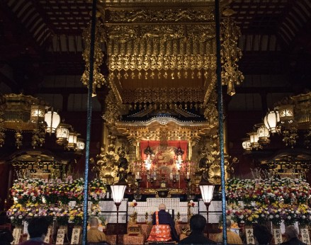 Inside Sensoji temple